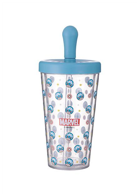 Joogipudel plast 420ml Marvel (Captain America)