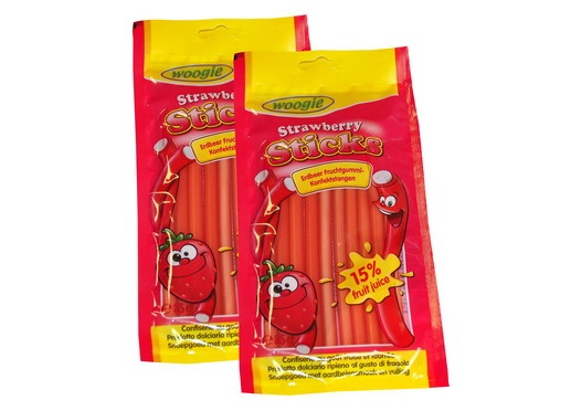 Kummikomm ''STRAWBERRY STICKS'' 85gr